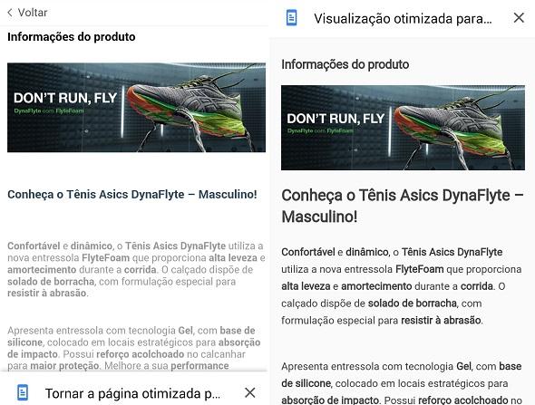 Otimização de Página Mobile pelo Google Chrome