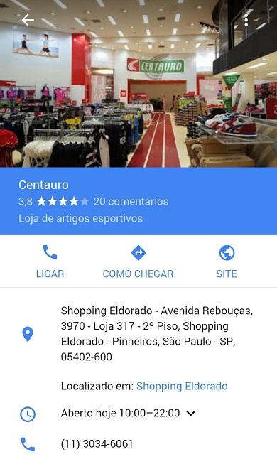 Google Meu Negócio: Loja Inserida Dentro de Outro Estabelecimento