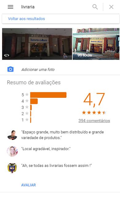 Google Meu Negócio: Avaliações de Clientes sobre o Comércio