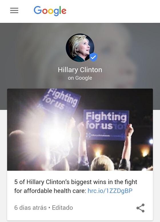 Google Posts: Perfil do Usuário