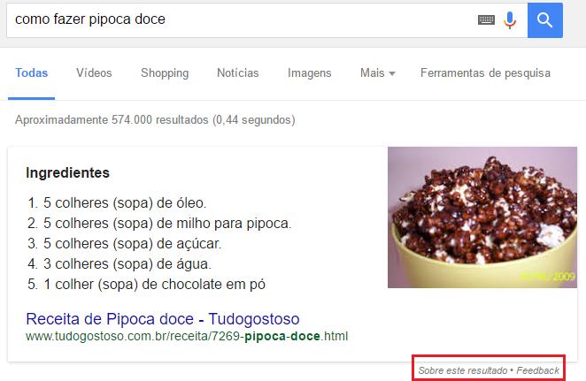 Snippets em Destaque nos Resultados Orgânicos de Pesquisa Google
