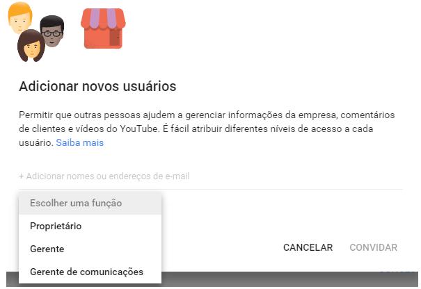 Como adicionar usuários para acesso ao Google Meu Negócio