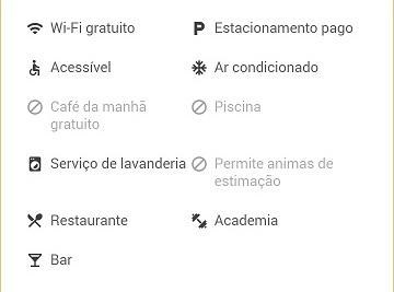 Google Resultados Locais: atributos de hotéis
