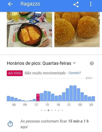 Google Resultados Locais: Movimento do Comércio em Tempo Real - Mobile