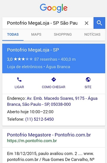 Google Resultado Local Otimizado em Conexão Lenta