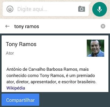 Pesquisa no teclado Gboard - Resultados Wikipedia