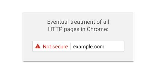 Alerta Google Chrome em páginas sem https em guia anônima
