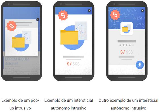 Banner intersticial será penalizado pelo Google