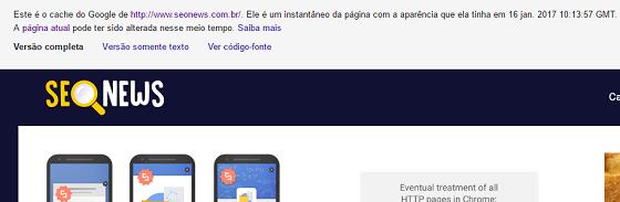 Operador de busca Google cache