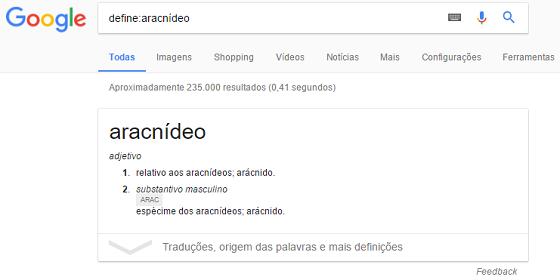 Operador de busca Google define
