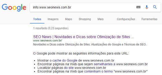 Operador de busca Google info