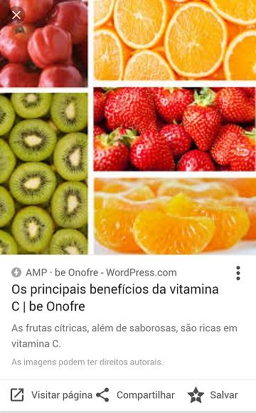 Resultados AMP no Google Imagens