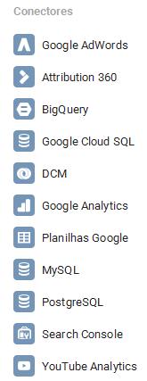 Fontes de dados para Google Data Studio