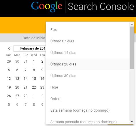 Selecionar período no Google Data Studio