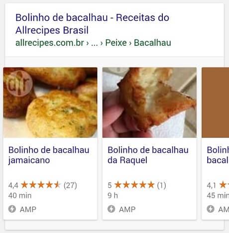 Google Rich Cards e AMP para receitas culinárias