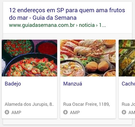 Google Rich Cards para restaurantes locais