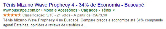Google Rich Snippets para e-Commerce