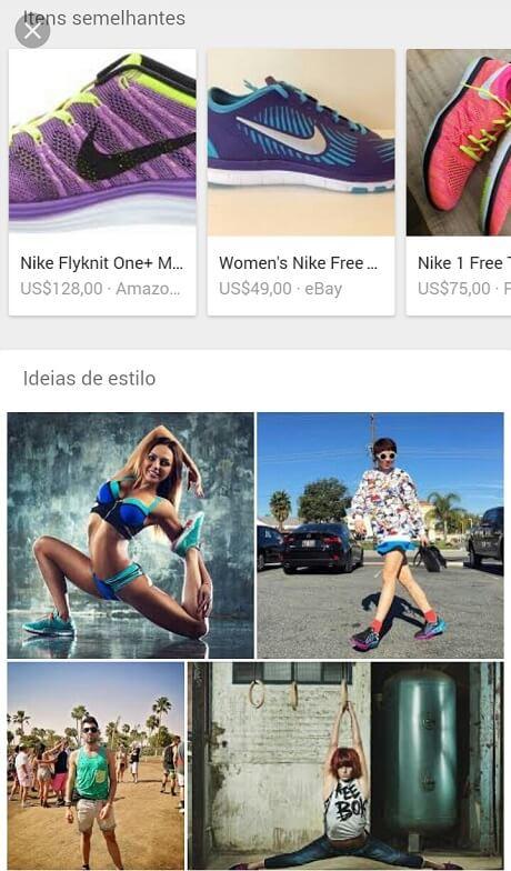 Itens semelhantes e ideias de estilo no Google Imagens