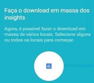 Mensagem download de relatório Insights Google Meu Negócio