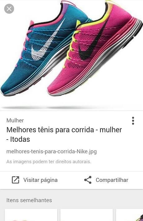 Resultado Google Imagens - busca por tênis para correr