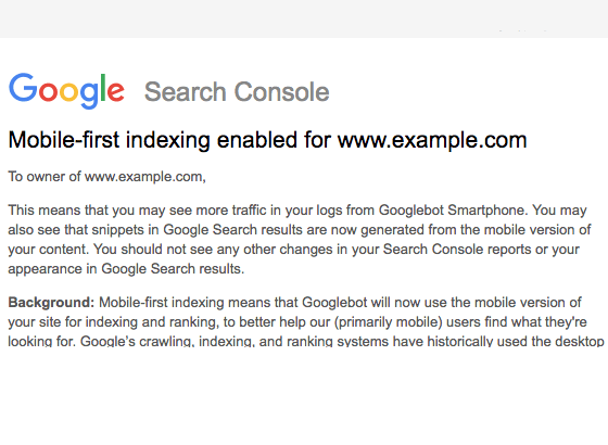 Google Mobile-First Indexing SEO