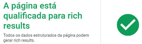 Página qualificada para Google Rich Results