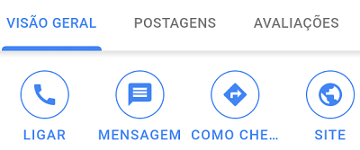 Botão Mensagem no Google Meu Negócio