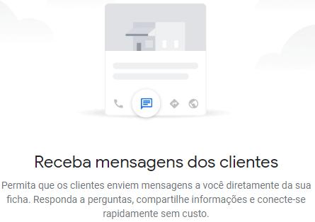 Mensagens de clientes Google Meu Negócio